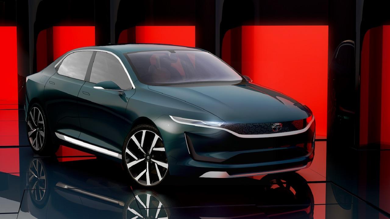 Tata EVision concept front three quarters