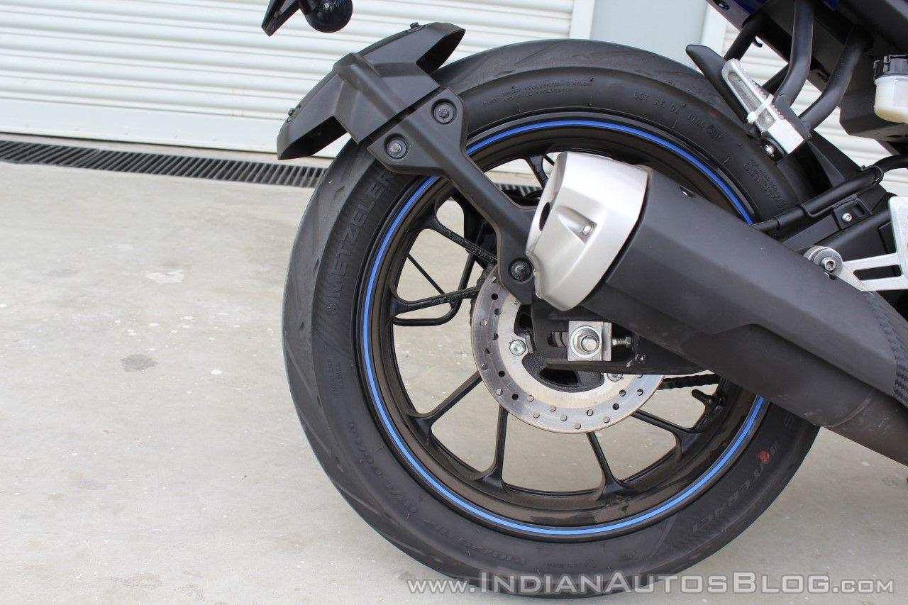 Yamaha YZF-R15 v3.0 track ride review rear wheel