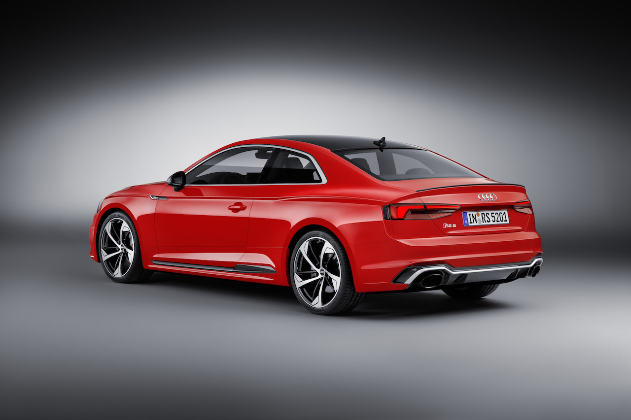 2018 Audi RS 5 Coupe rear three quarters