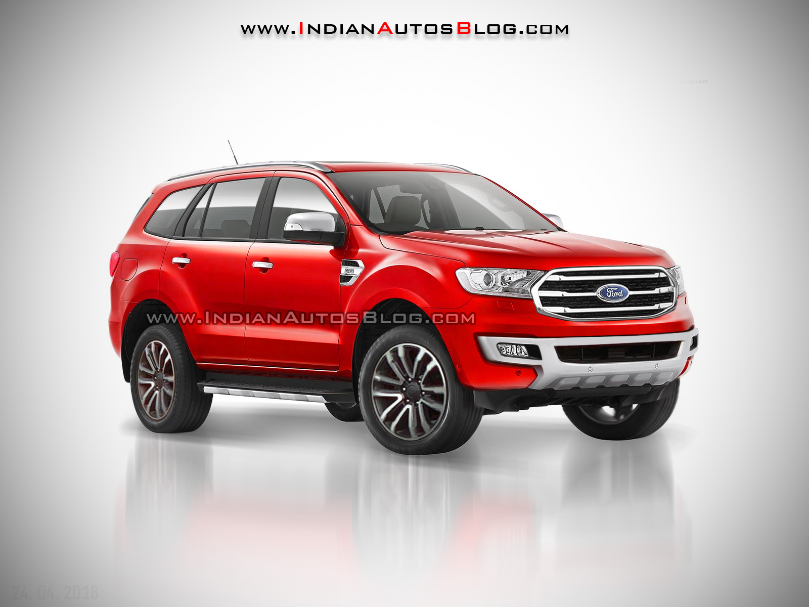 2018 Ford Endeavour (2018 Ford Everest) IAB rendering