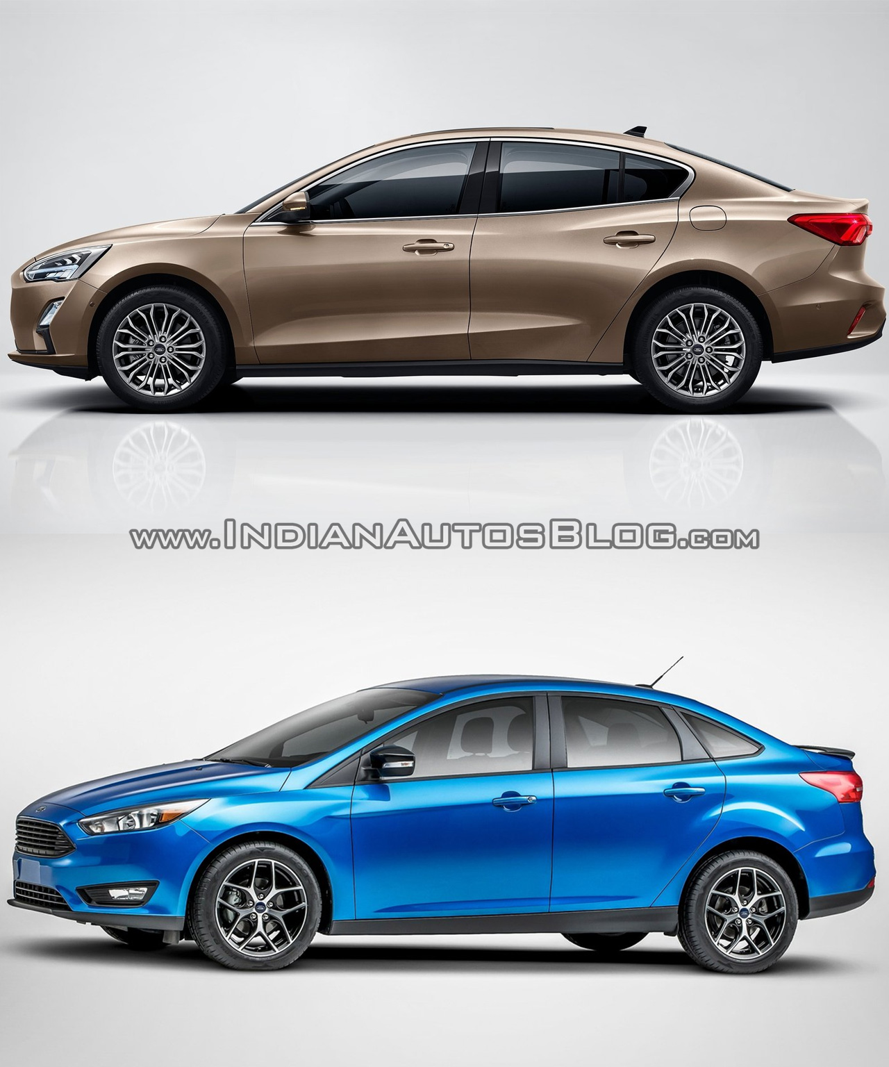 2018 Ford Focus Sedan vs 2014 Ford Focus Sedan profile