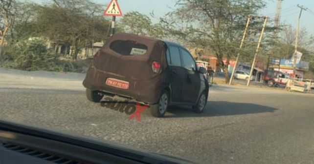 2018 Hyundai Santro (Hyundai AH2) rear three quarters spy shot