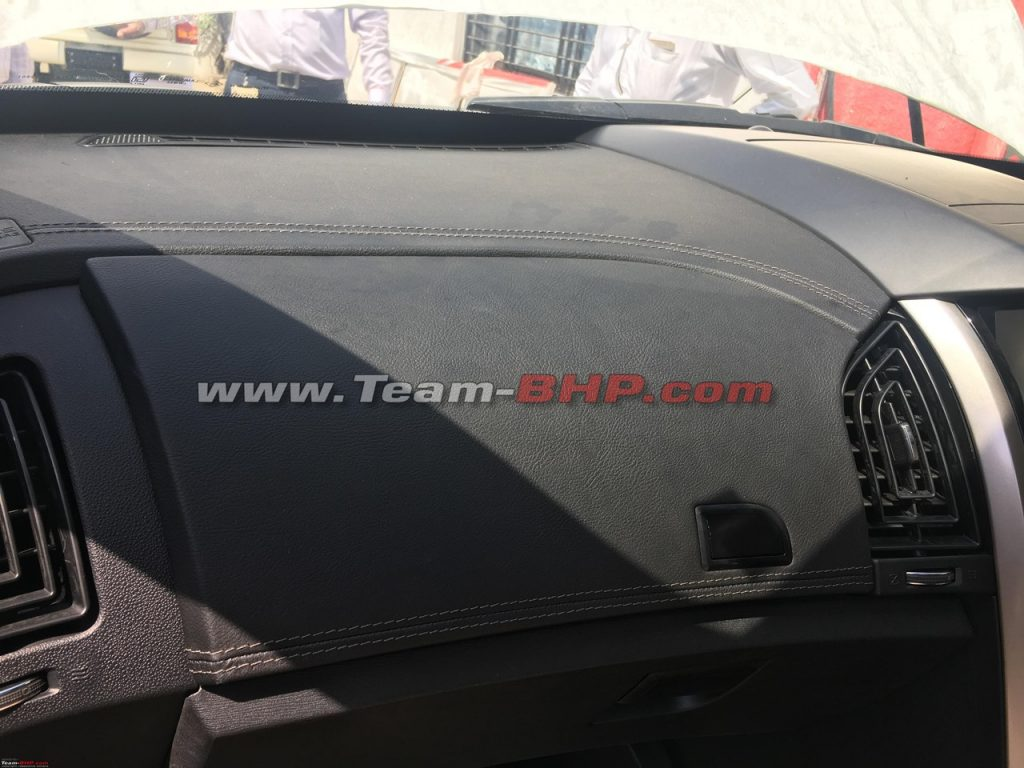 2018 Mahindra XUV500 facelift interior dashboard soft touch plastic