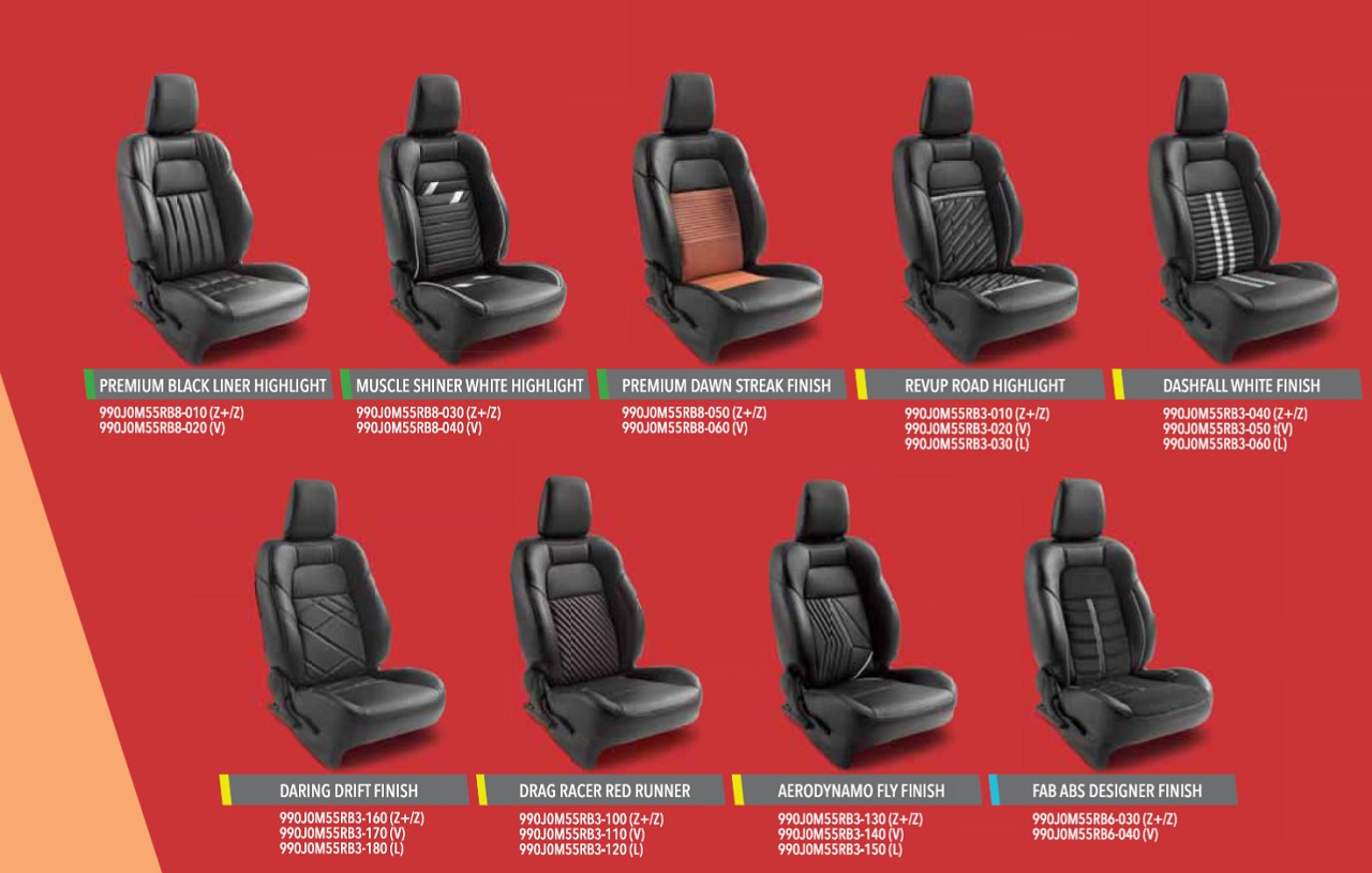 Lexus Seat Covers >> 2018 Maruti Swift accessories seat covers