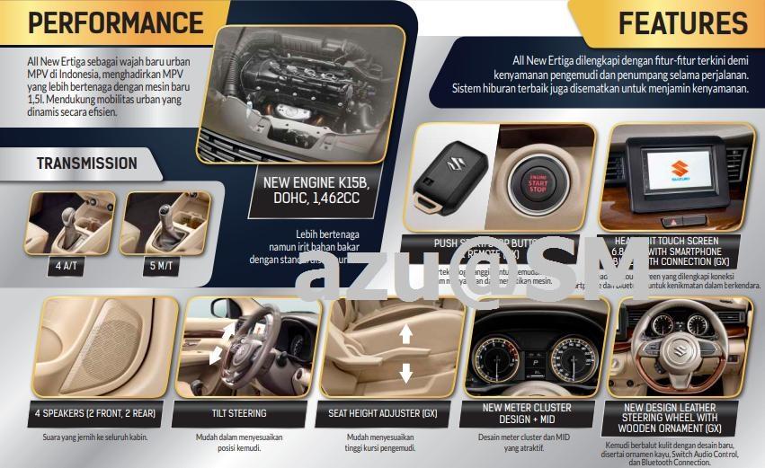 2018 Suzuki Ertiga (2018 Maruti Ertiga) interior leaked brochure