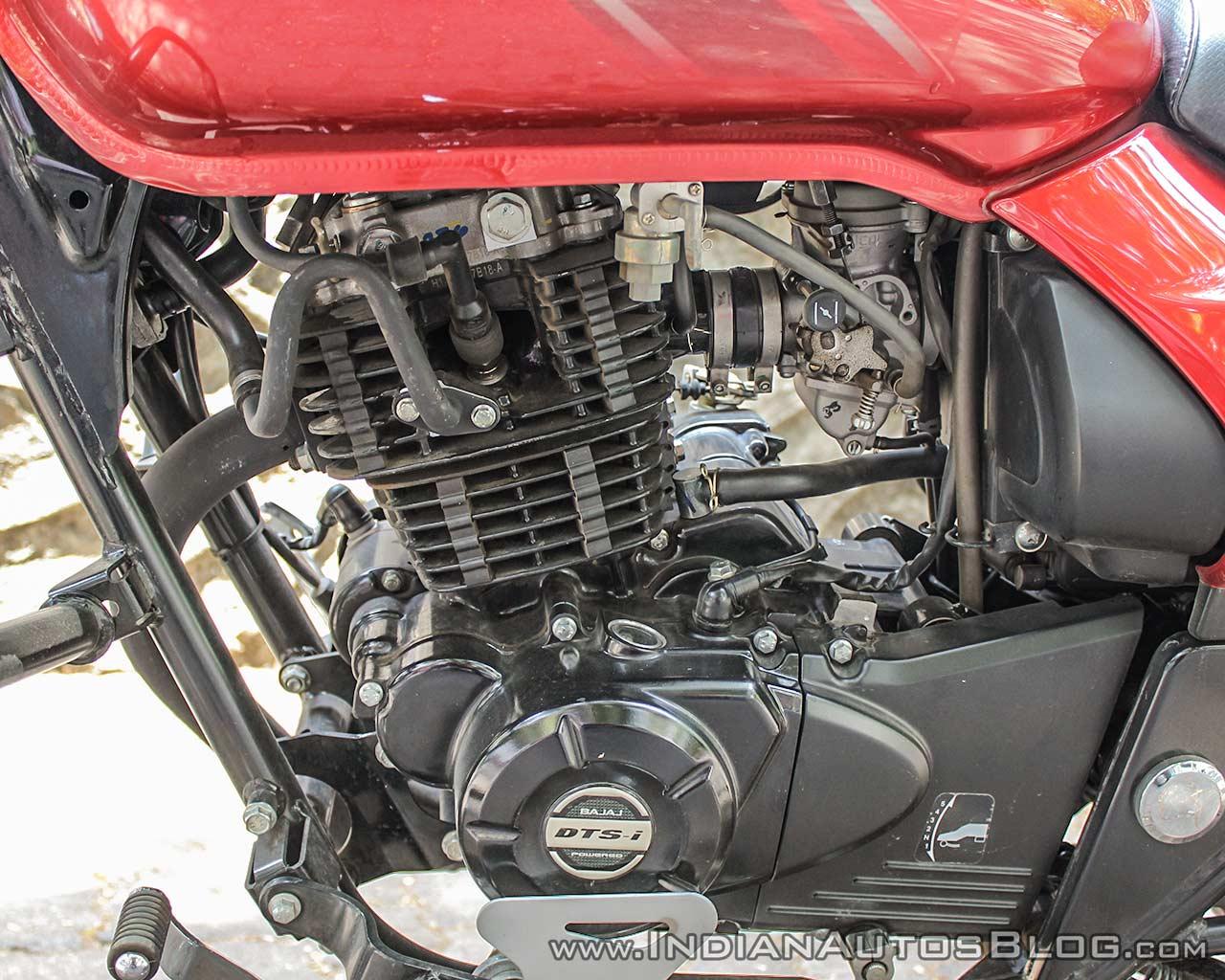 Bajaj Avenger 180 Street test ride review engine left side