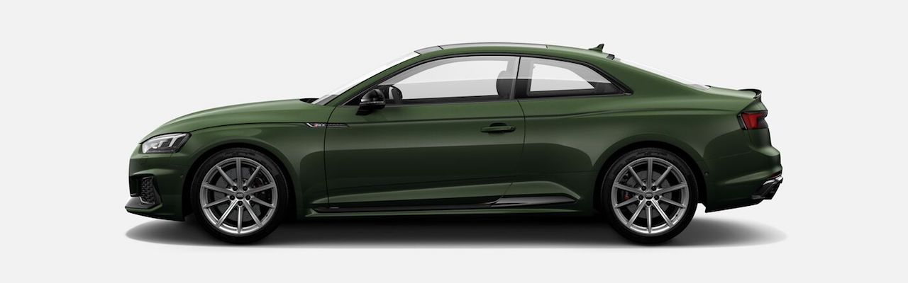Indian-spec 2018 Audi RS 5 Coupe Sonoma Green Metallic profile