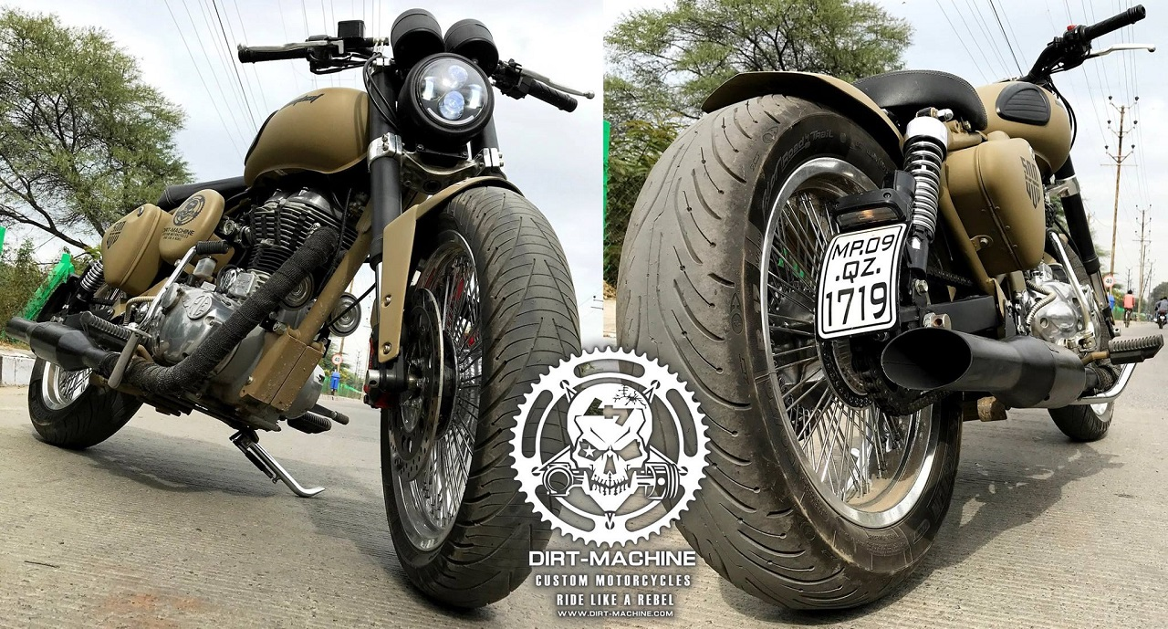 Royal Enfield Classic 500 'Combat' By Dirt Machine Custom