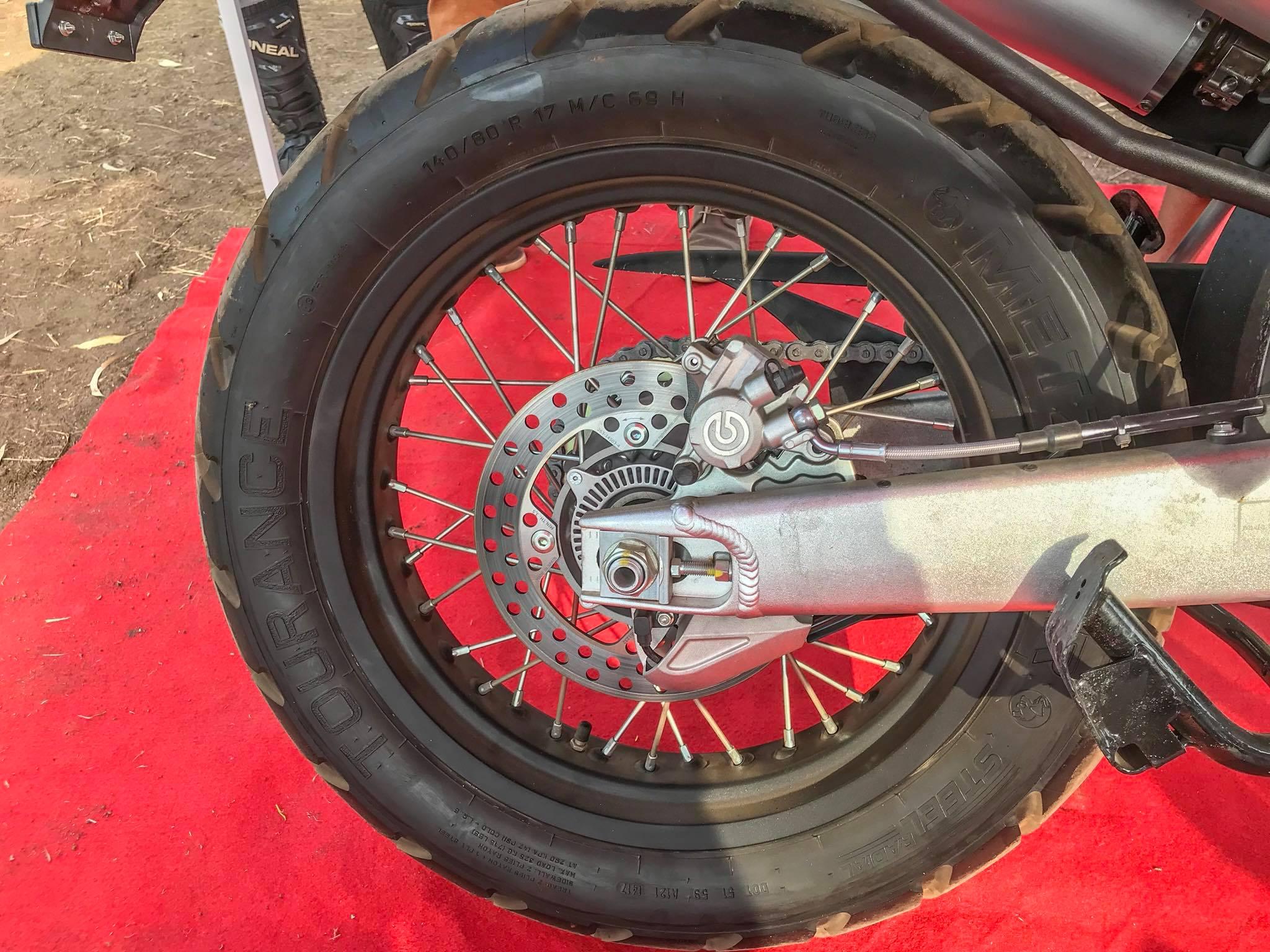 SWM SuperDual T showcased rear wheel