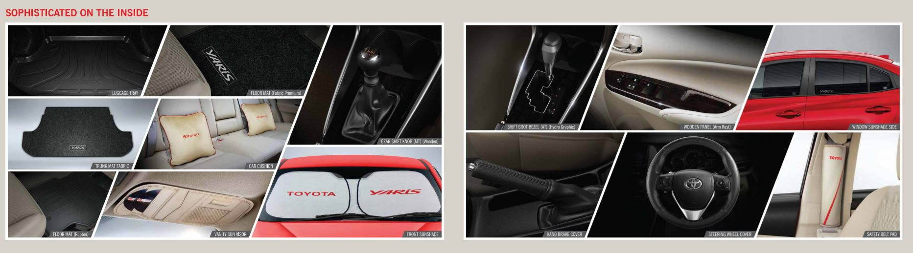 Toyota yaris accessories brochure revealed officially - Toyota yaris interior accessories ...