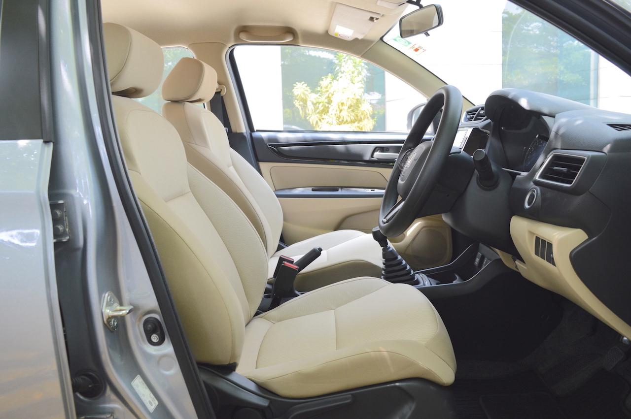 2018 Honda Amaze front seats enhanced