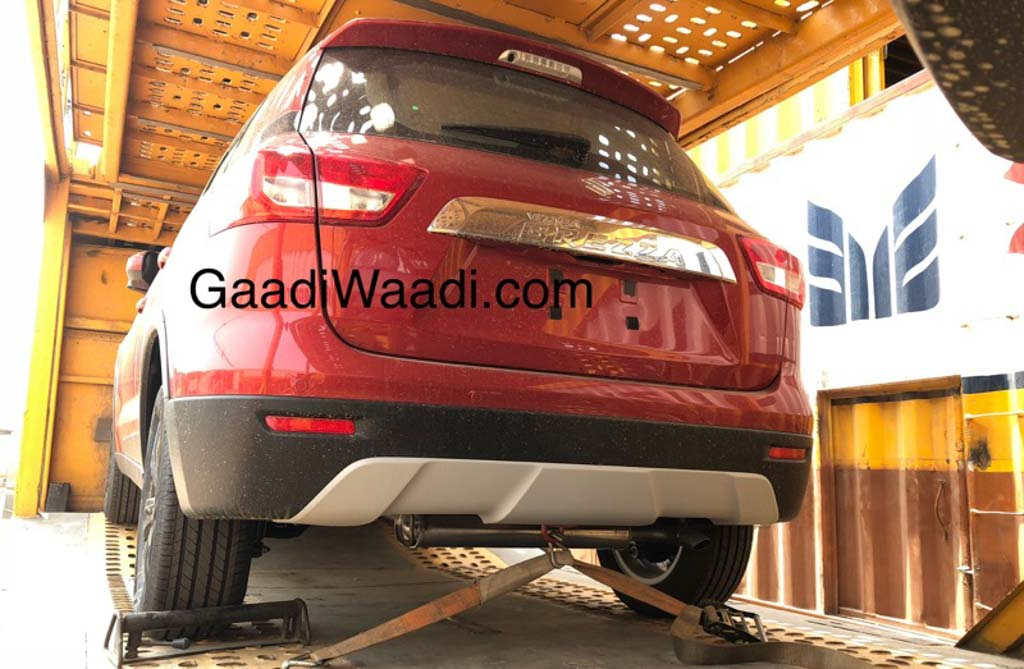 2018 Maruti Vitara Brezza rear three quarters spy shot