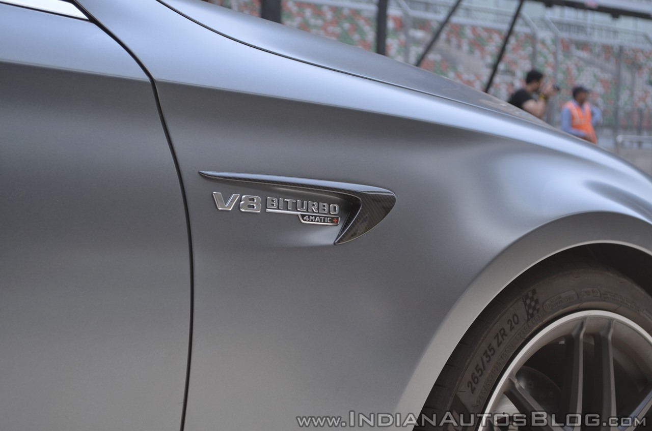 2018 Mercedes-AMG E 63 S review badge side