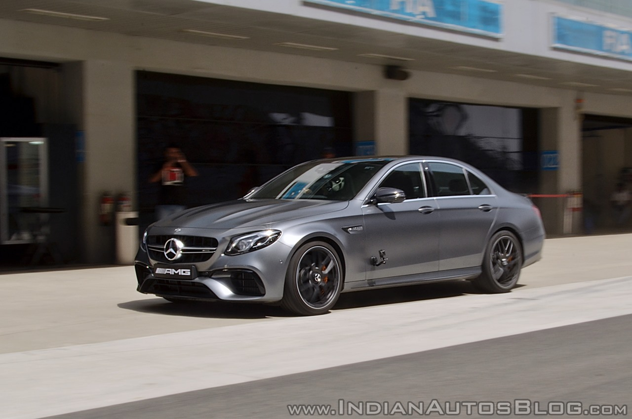 2018 Mercedes-AMG E 63 S review front angle motion