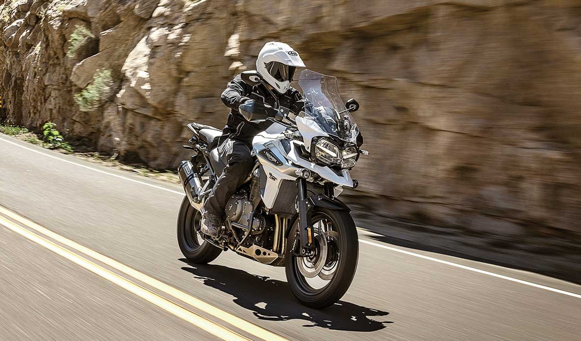 2018 Triumph Tiger 1200 press action shot