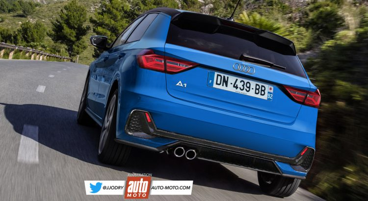 2019 Audi A1 front three quarters rear three quarters left side rendering