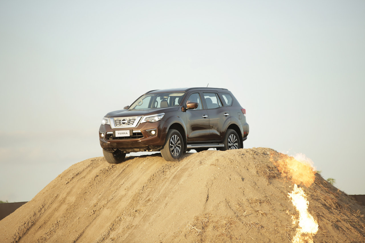 7-seat Nissan Terra off-roading