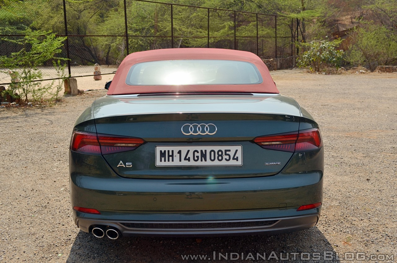 Audi A5 Cabriolet review rear top up