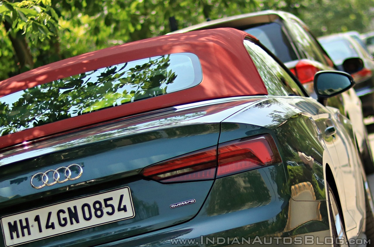 Audi A5 Cabriolet review tail light