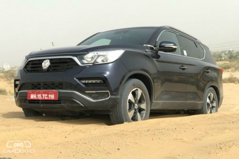 G4 SsangYong Rexton (Mahindra Rexton) off-road spy shot india