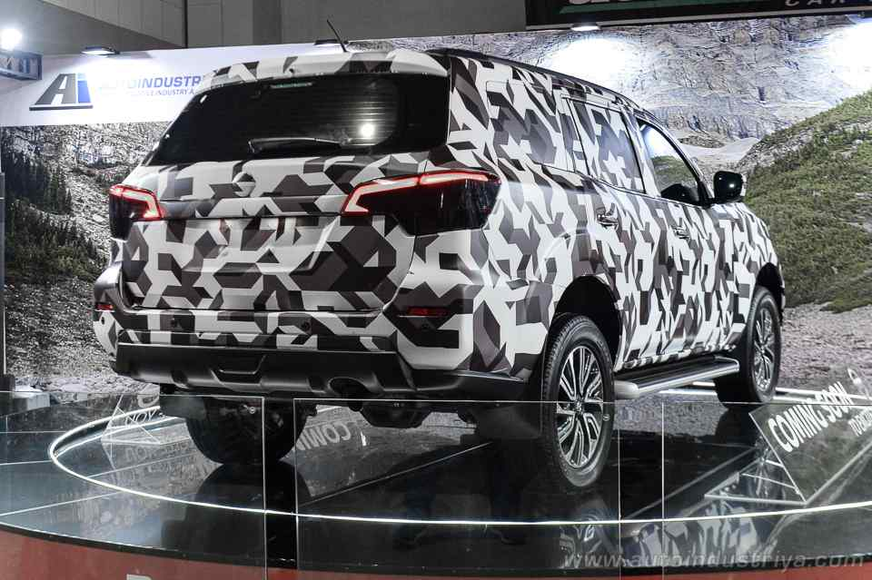 Nissan Terra rear three quarters at 2018 Trans Sport Show