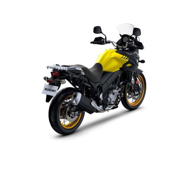 suzuki v strom 650 xt press rear right quarter. Black Bedroom Furniture Sets. Home Design Ideas
