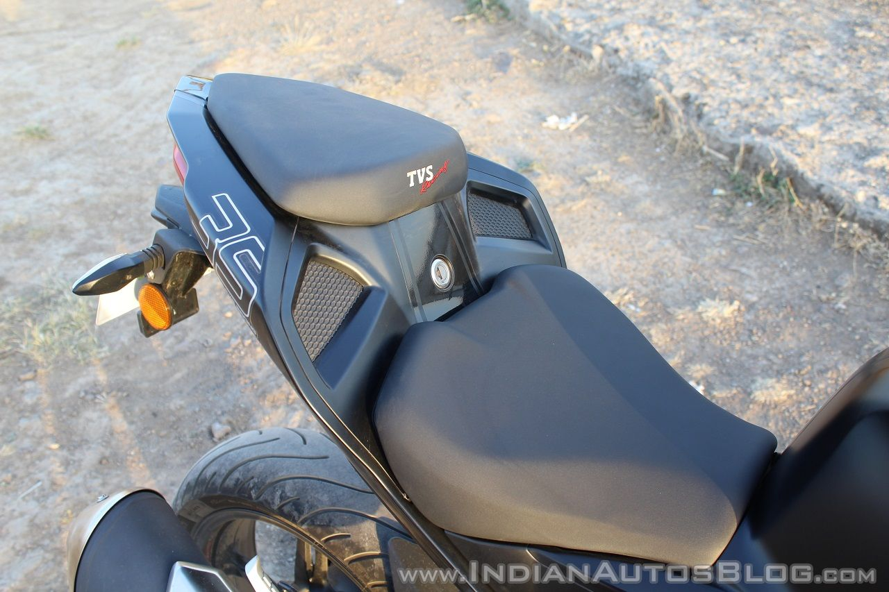 TVS Apache RR 310 Black detailed review seats