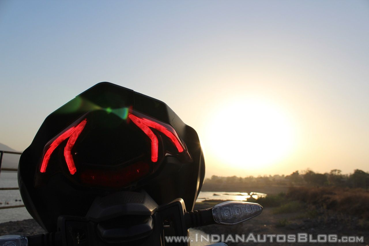 TVS Apache RR 310 Black detailed review tail light