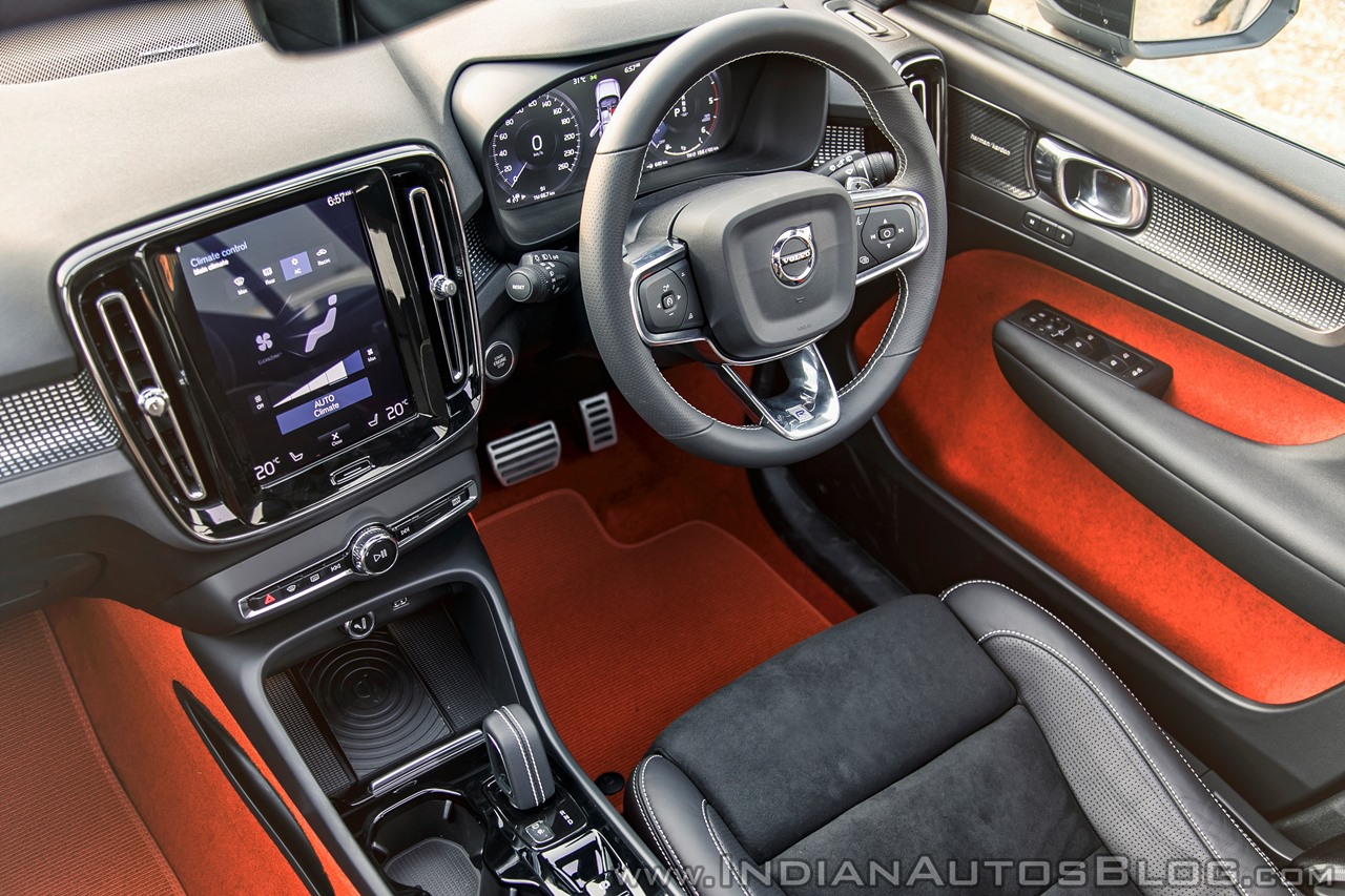 volvo xc40 review interior black and lava red. Black Bedroom Furniture Sets. Home Design Ideas