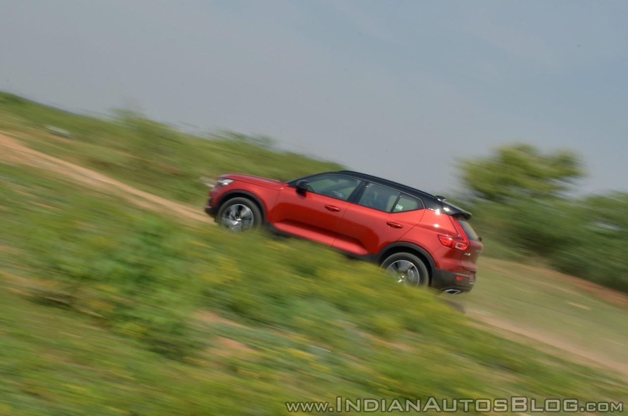 Volvo XC40 review side motion shot tilt