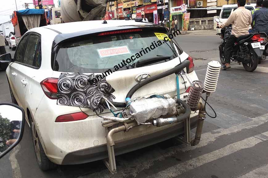 2018 Hyundai i30 spied undergoing emissions testing in India
