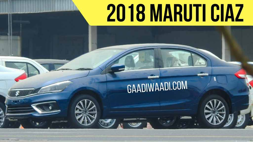 2018 Maruti Ciaz Facelift Spied Completely Undisguised