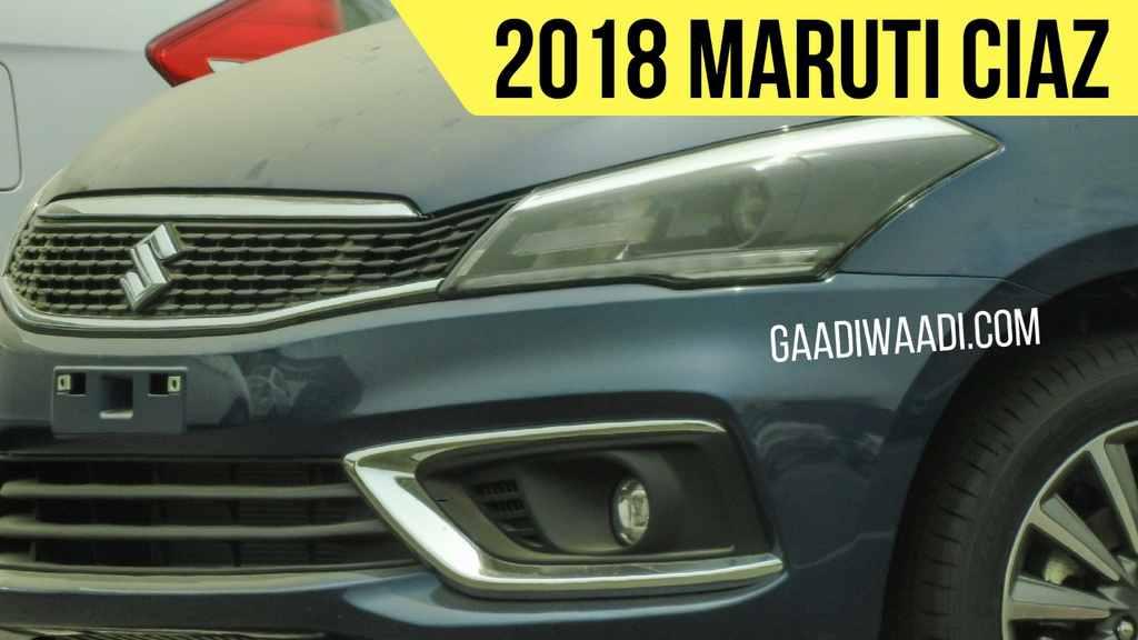 2018 Maruti Ciaz (facelift) front fascia spy shot