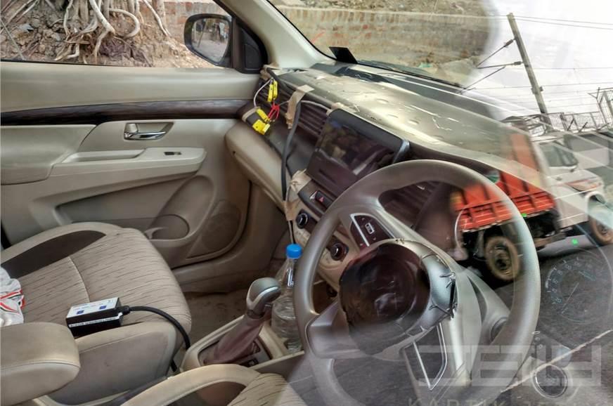 2018 Maruti Ertiga interior spy shot front