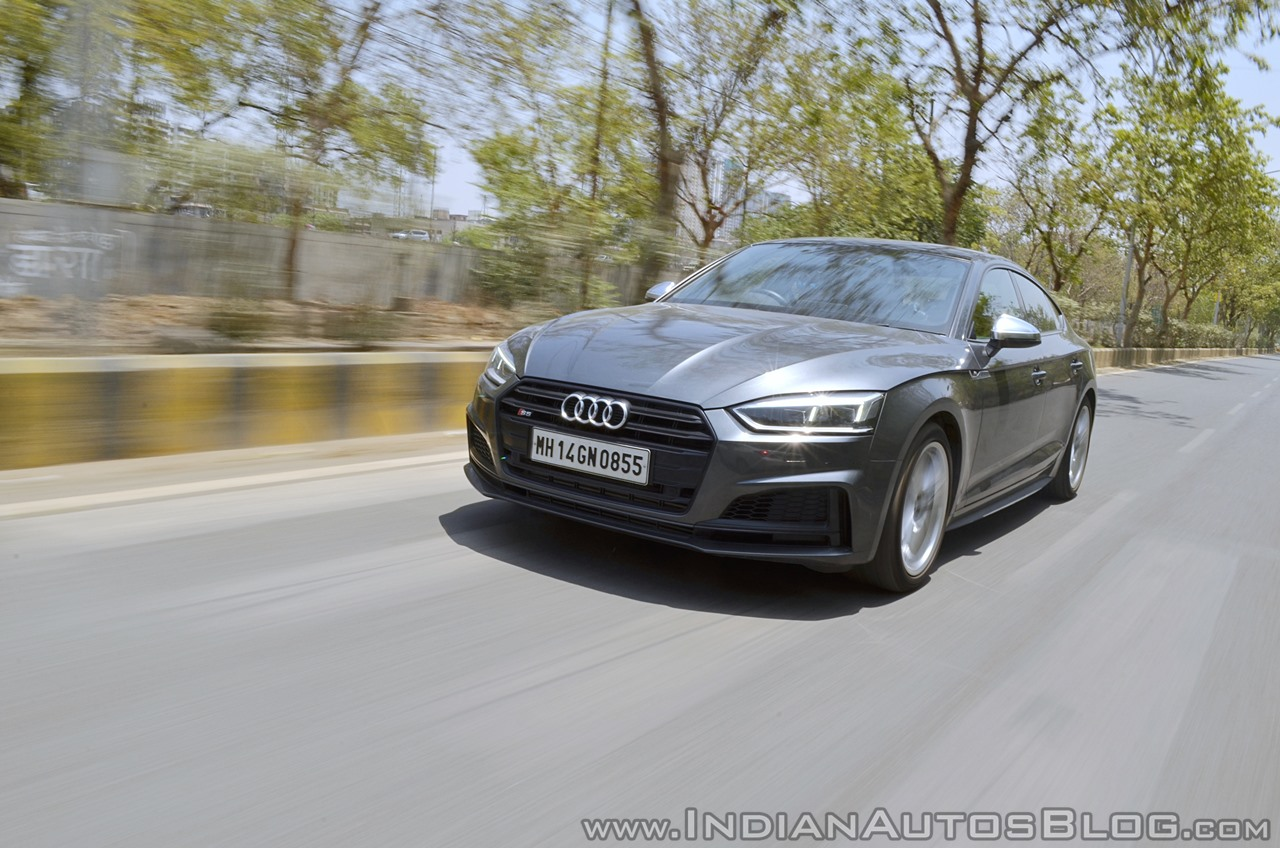 Audi S5 review front tracking shot
