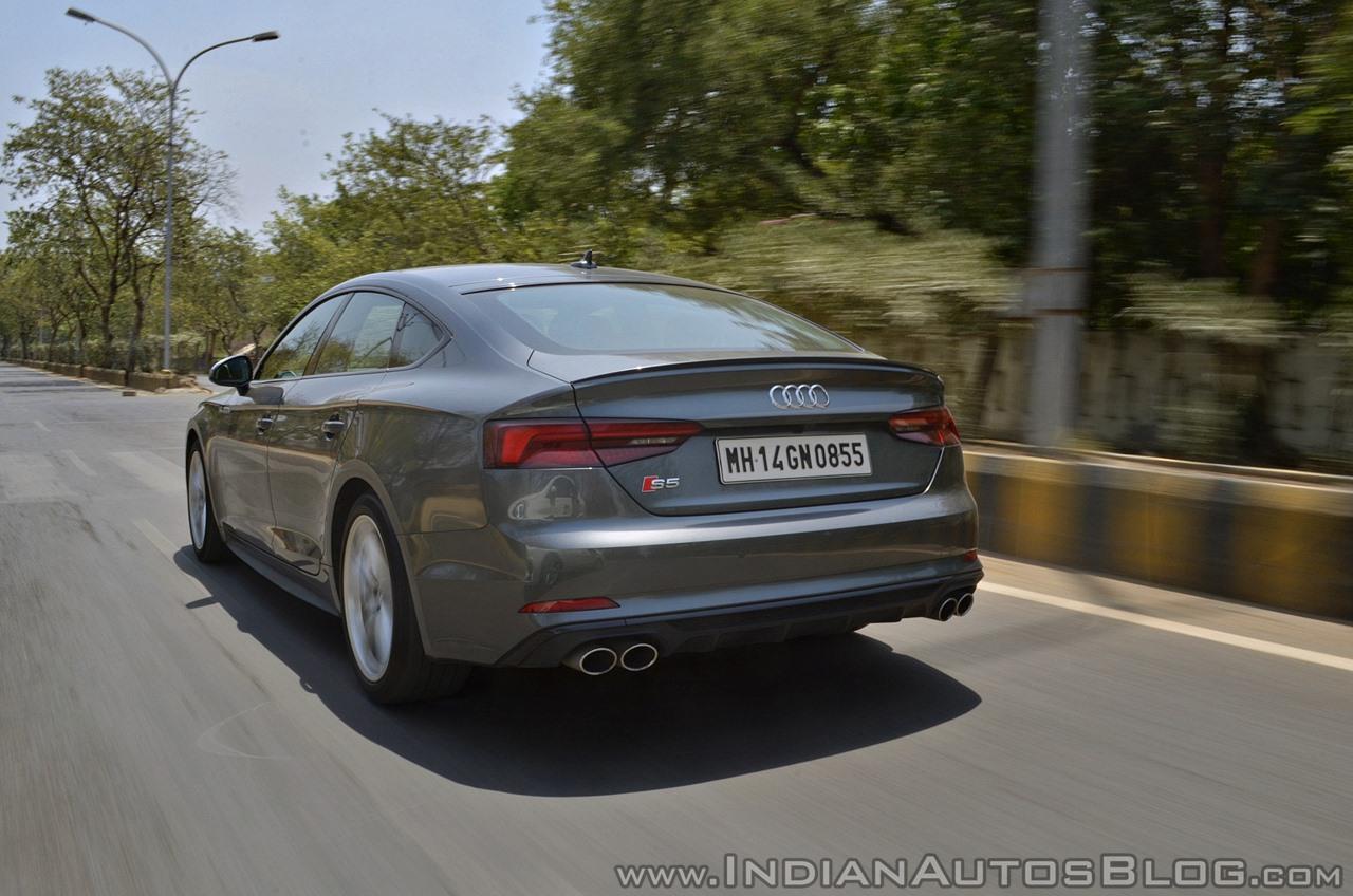 Audi S5 review rear action shot