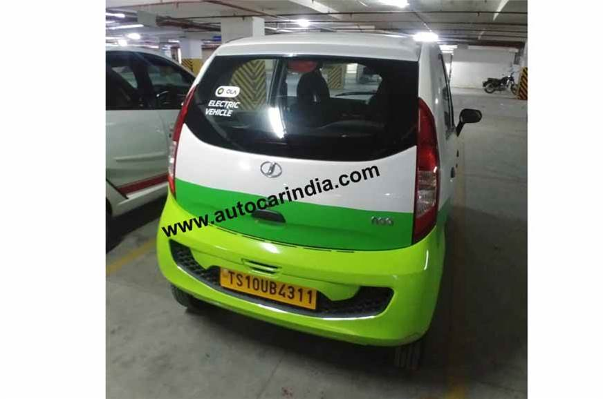 Jayem Neo (Tata Nano Electric) rear three quarters spy shot