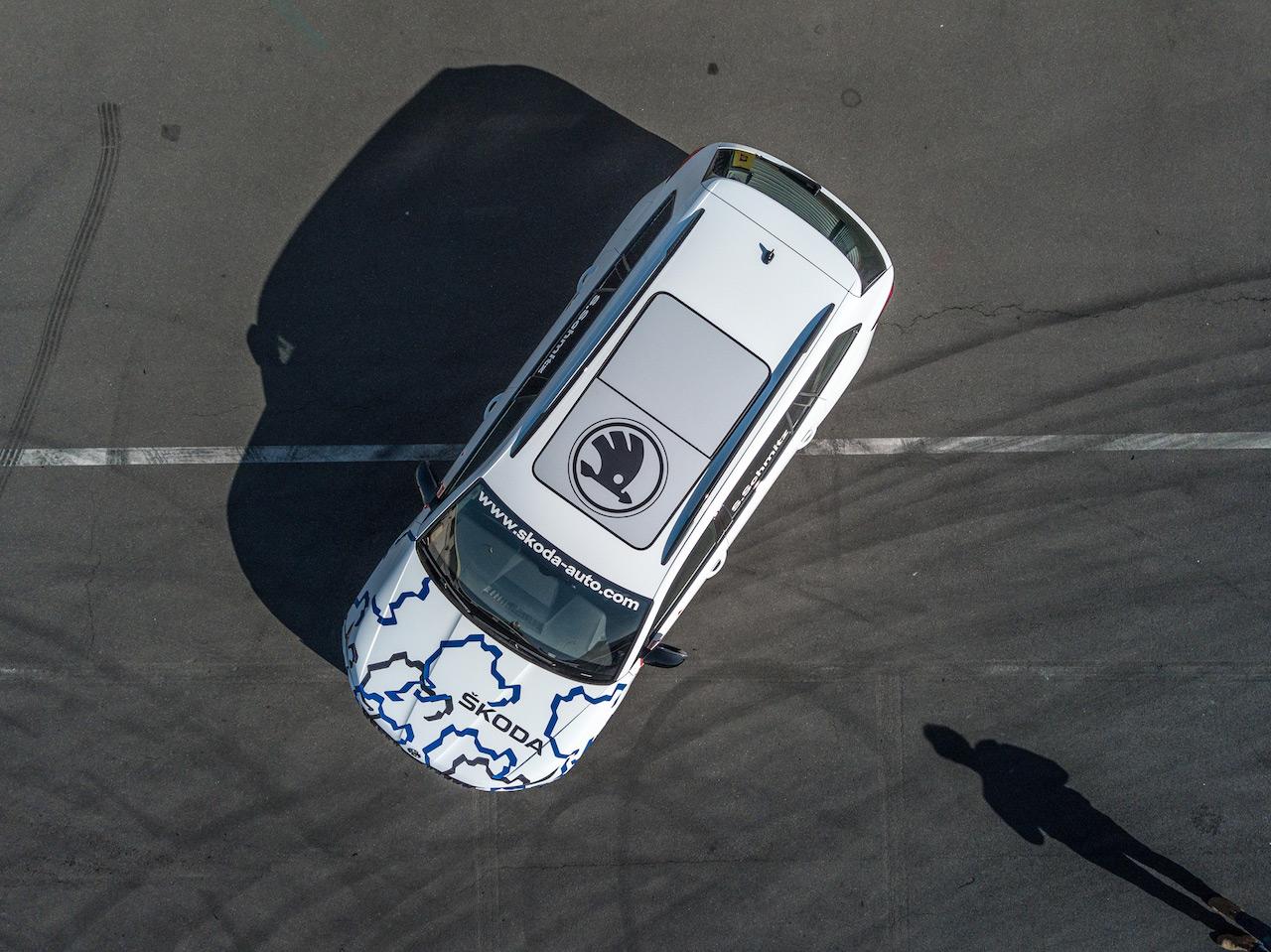 Skoda Kodiaq RS (Skoda Kodiaq vRS) roof aerial view teaser