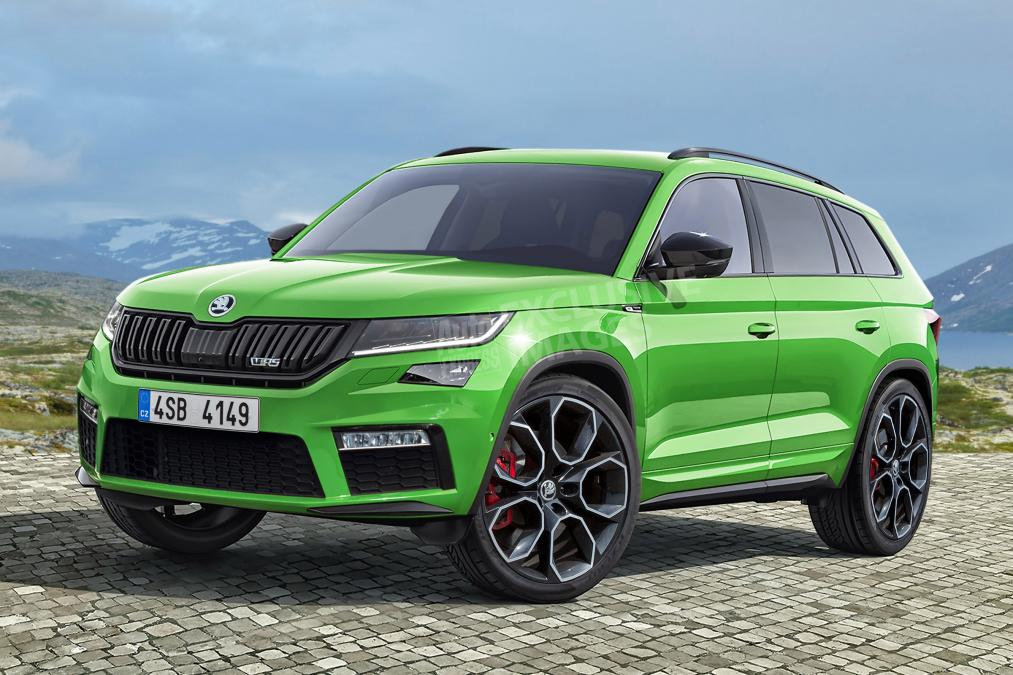 skoda kodiaq rs could debut at 2018 paris motor show. Black Bedroom Furniture Sets. Home Design Ideas