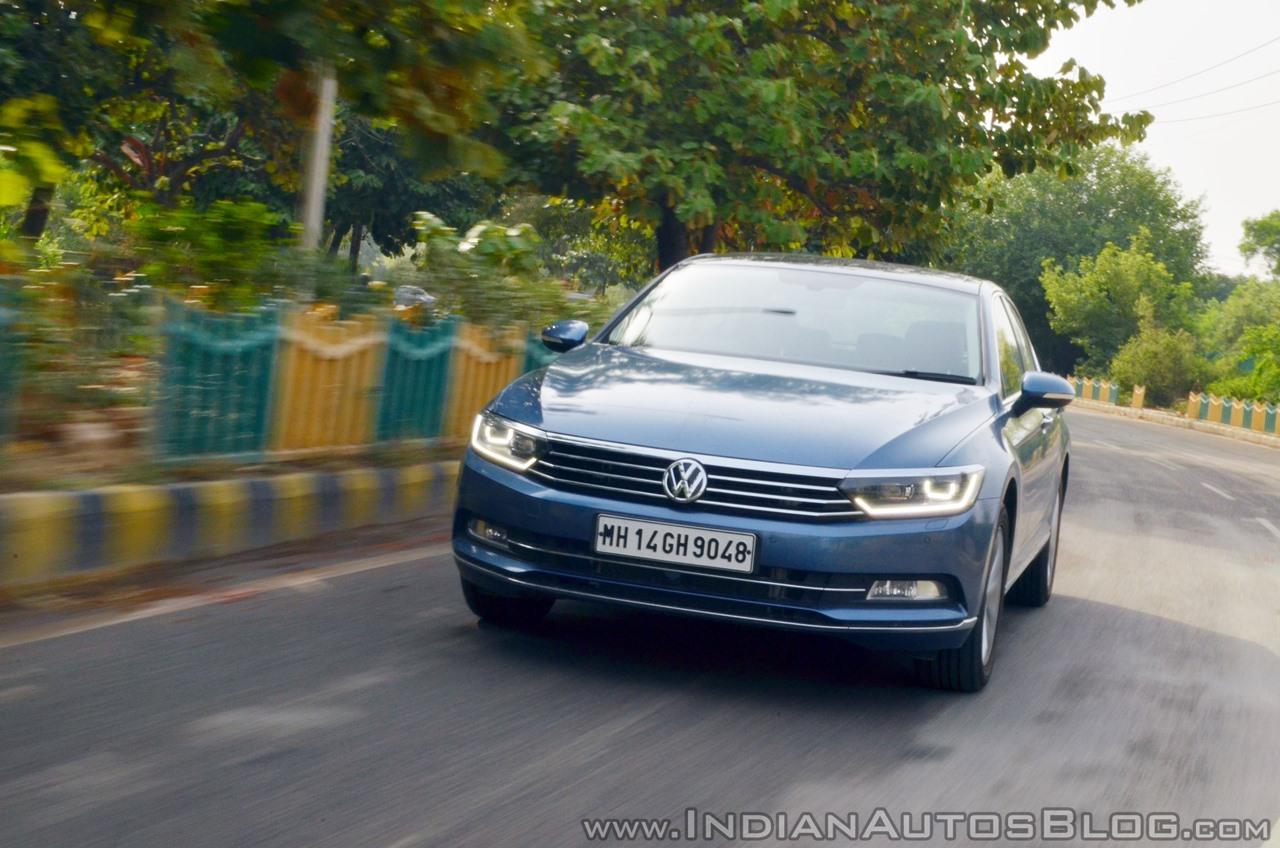 VW Passat review front action shot