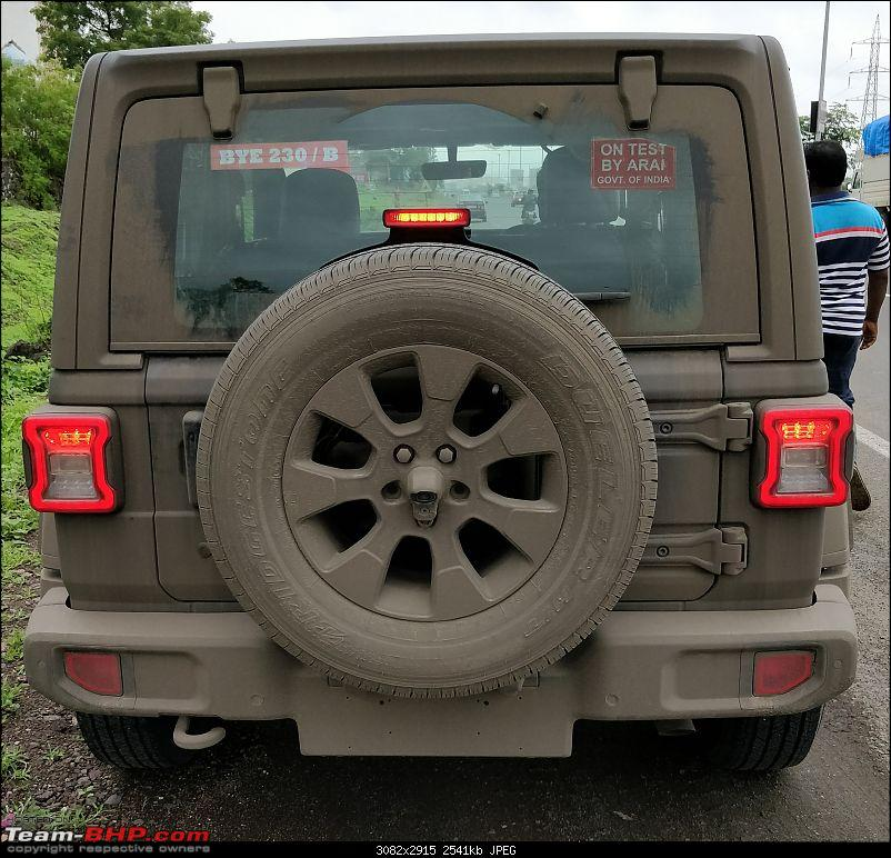 2-door 2019 Jeep Wrangler rear spy shot India