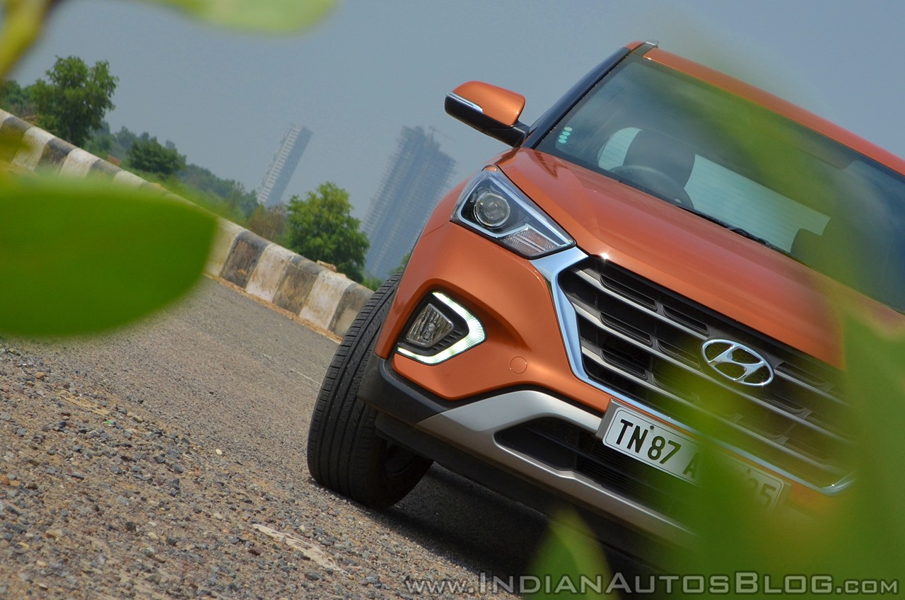 2018 Hyundai Creta facelift review front section