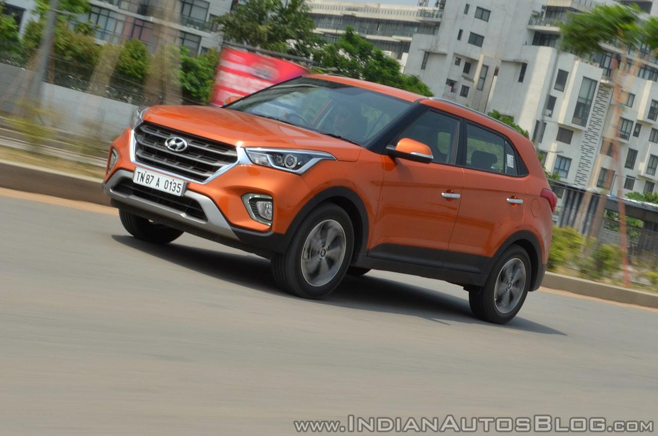 2018 Hyundai Creta facelift review front three quarters motion tilt