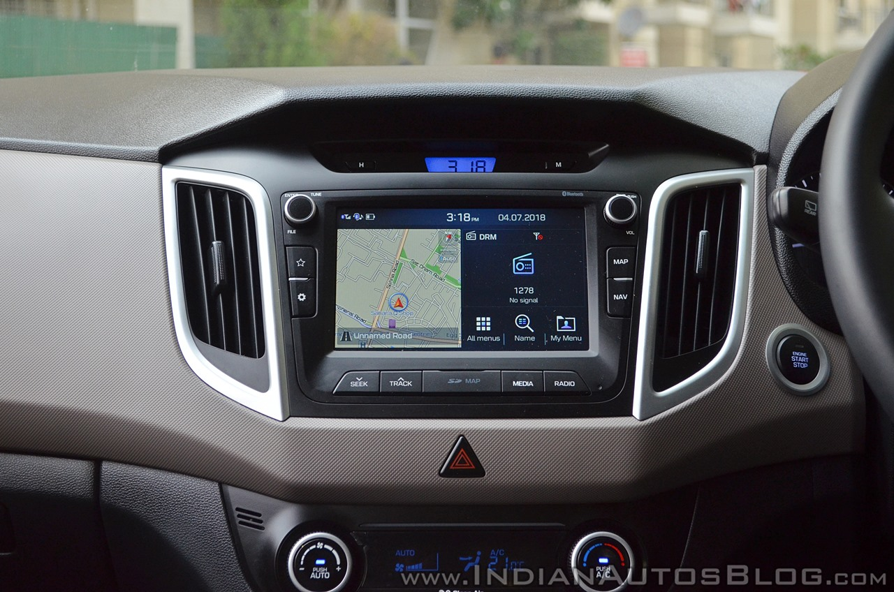2018 Hyundai Creta facelift review touchscreen