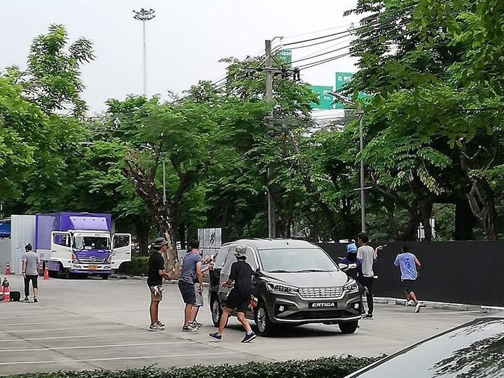 2018 Suzuki Ertiga (2018 Maruti Ertiga) front three quarters spy shot Thailand