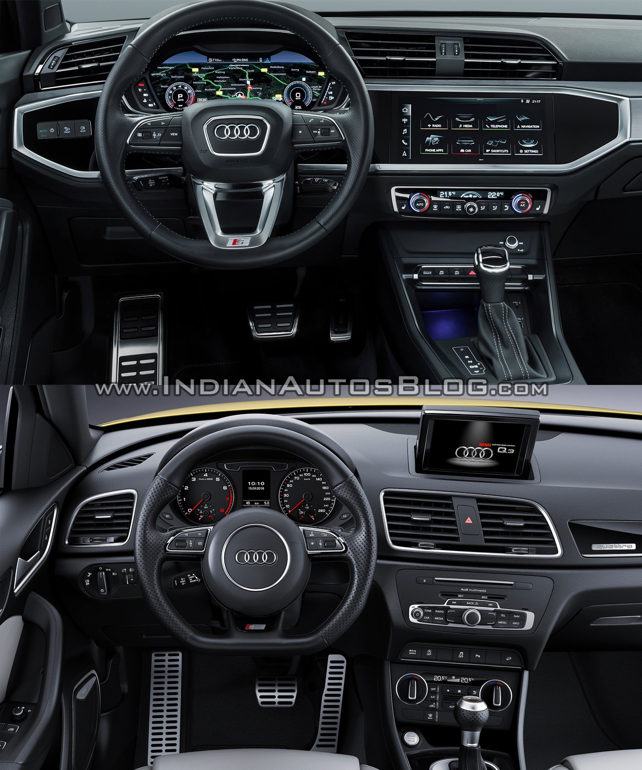 2019 audi q3 vs 2015 audi q3 old vs new. Black Bedroom Furniture Sets. Home Design Ideas