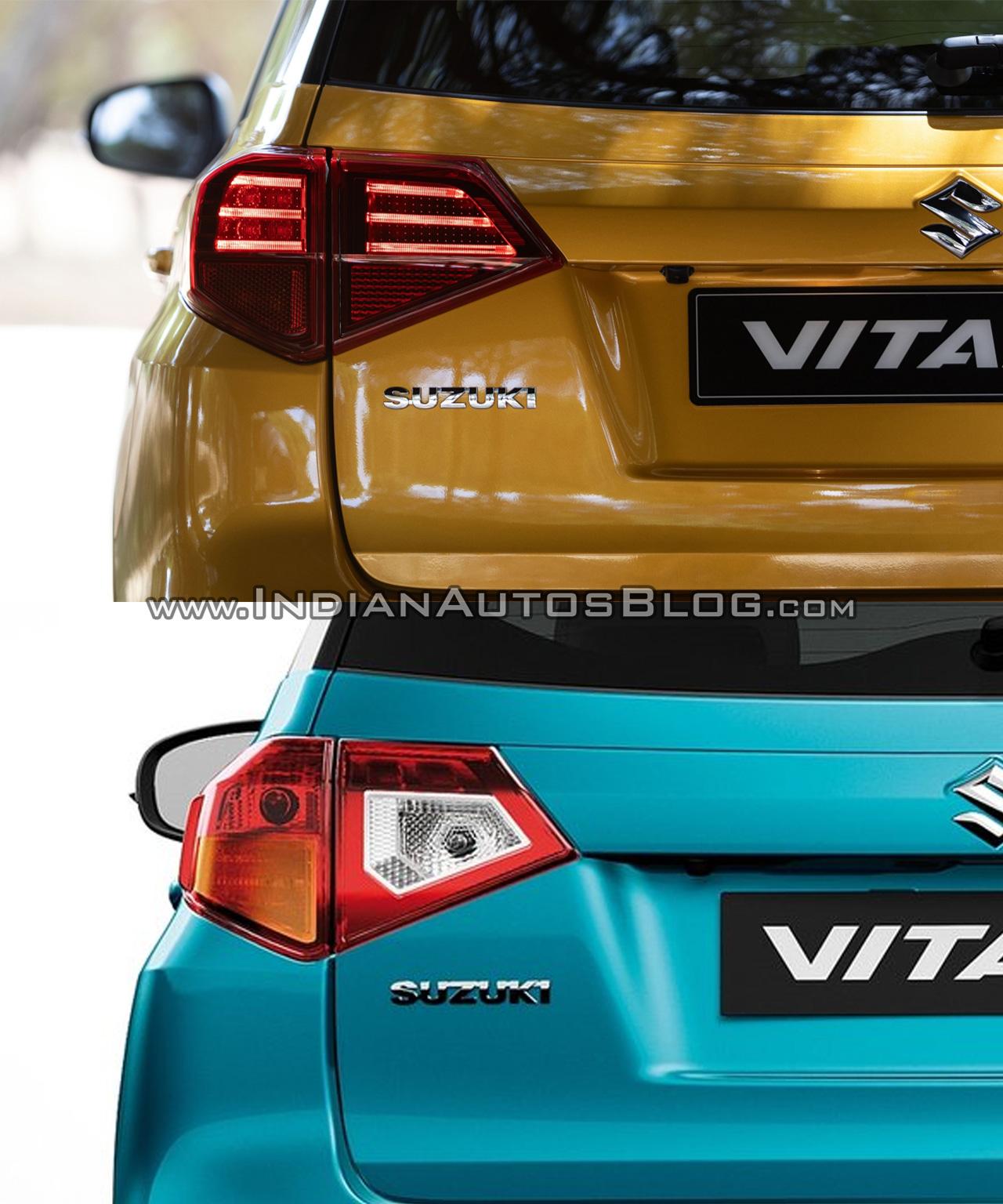 2019 Suzuki Vitara vs. 2015 Suzuki Vitara tail lamp
