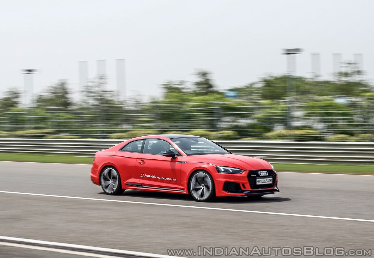 Audi RS5 track drive action shot