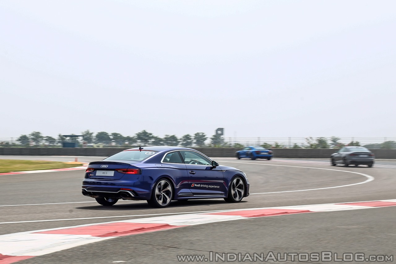 Audi RS5 track drive rear action shot