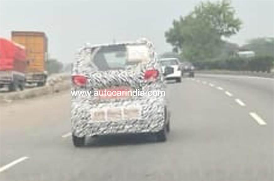 Baojun E100 rear spy shot India